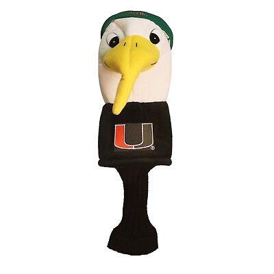 Miami Hurricans Mascot Golf Club Driver Headcover - Oversize Cover Bag Club