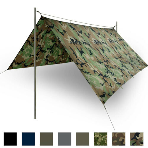 Helikon Tex Military Basha Waterproof Shelter Army Tarp Shelter Tent Camping
