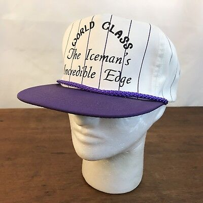 (World Class Iceman's Incredible Edge White Cotton Snapback Trucker Cap CH10)