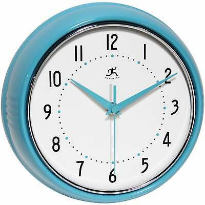 Round Retro 9.5 inch Kitchen Vintage 50s Wall Clock by