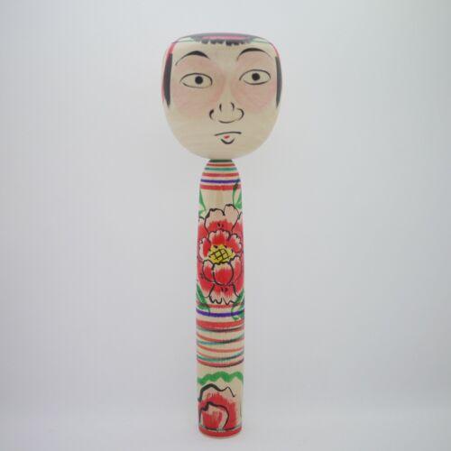 30cm Japanese Dento Traditional Takobozu Kokeshi Doll Fumio Kakizaki (1947−)