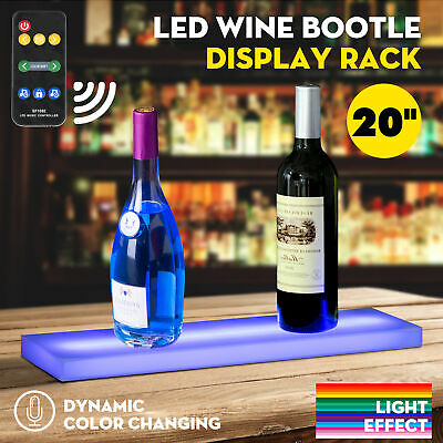 20 Music-activated Led Lighted Bar Liquor Display Shelf Rack Wine Bottle Stand