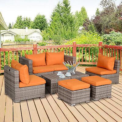 8pc Outdoor Patio Furniture Set All Weather Wicker Rattan Sofa Set