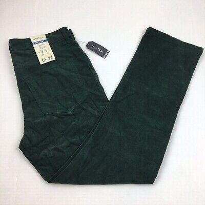 Green Corduroy Pants - NEW Men's Nautica Corduroy Pants Straight Leg Stretch Fit Green