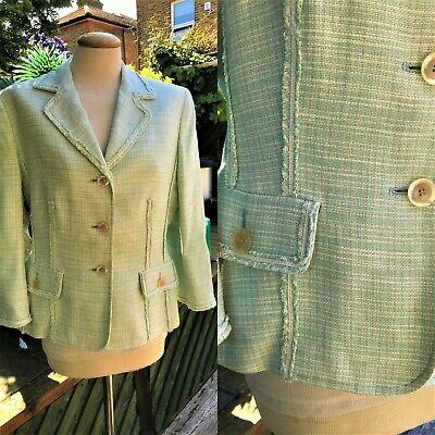 """Kasper Jacket size UK 14 / US 10 Linen mix boucle style- frayed edges.  Bust 38"""""""