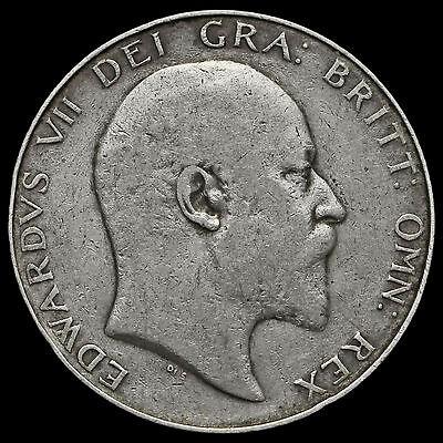 1907 Edward VII Silver Half Crown – GF