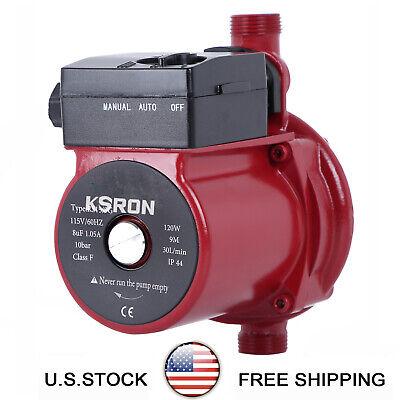 Npt 34 Automatic Booster Pump 110v Hot Water Recirculating Pump 120w