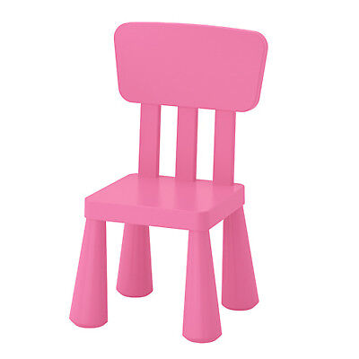 IKEA MAMMUT Kinderstuhl rosa mit Lehne Sitz Stuhl Kindermöbel Kindersitzgruppe gebraucht kaufen  Hannover