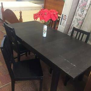 MODERN DARK BROWN EXTENDABLE DINING TABLE WITH 4 CHAIRS!!!! Bentley Canning Area Preview