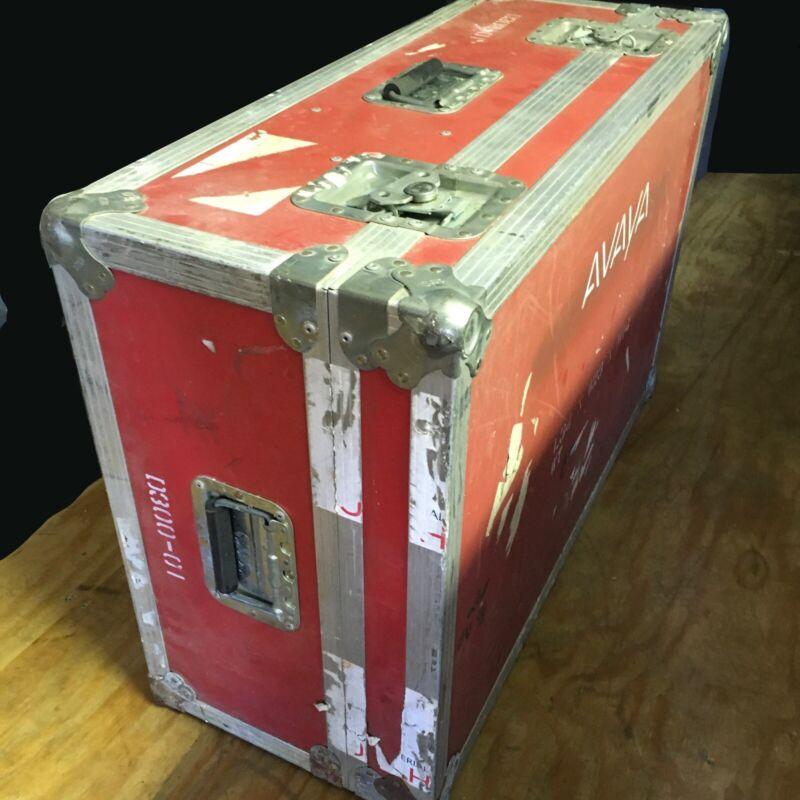 red CALZONE Road Flight Case ATA Case Heavy Duty Anvil