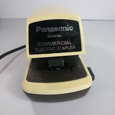 Vintage Panasonic Electric Stapler As-300nn Commercial Desktop Heavy Duty Works