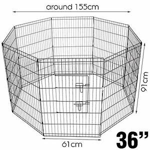 """8 x 36"""" Panel Pet Playpen Dog Chicken Rabbit Fence (4 available) St James Victoria Park Area Preview"""