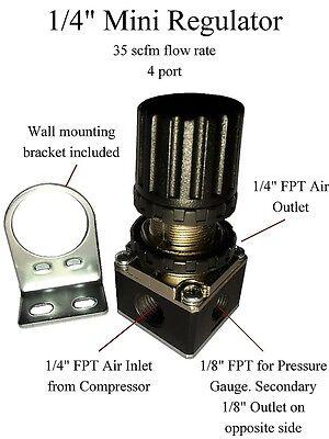 "1/4"" MINI PRESSURE REGULATOR FOR COMPRESSOR COMPRESSED AIR LINE PRESSURE"