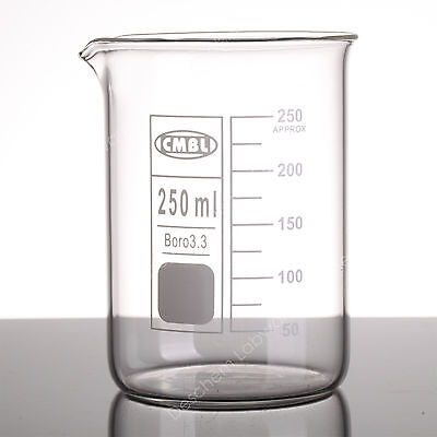 250ml Lab Glass Beakerlow Form Gg17 Beakers With Spout Mouthmade From Glass3.3