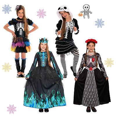 lett Kostüm Kinder Mädchen Kind Hexenkostüm Skeleton Kostüme (Vampir-mädchen Kostüme Kinder)