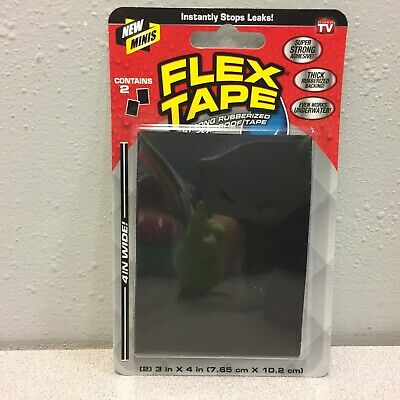 Flex Tape Tfsblkmini-8 3 In. W X 4 In. L Black Waterproof Repair Tape