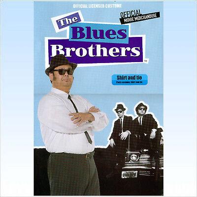 Blues Brothers Hemd + Schlips Gr. M Accessoire für Kostüm Blues - Blues Brothers Kostüm