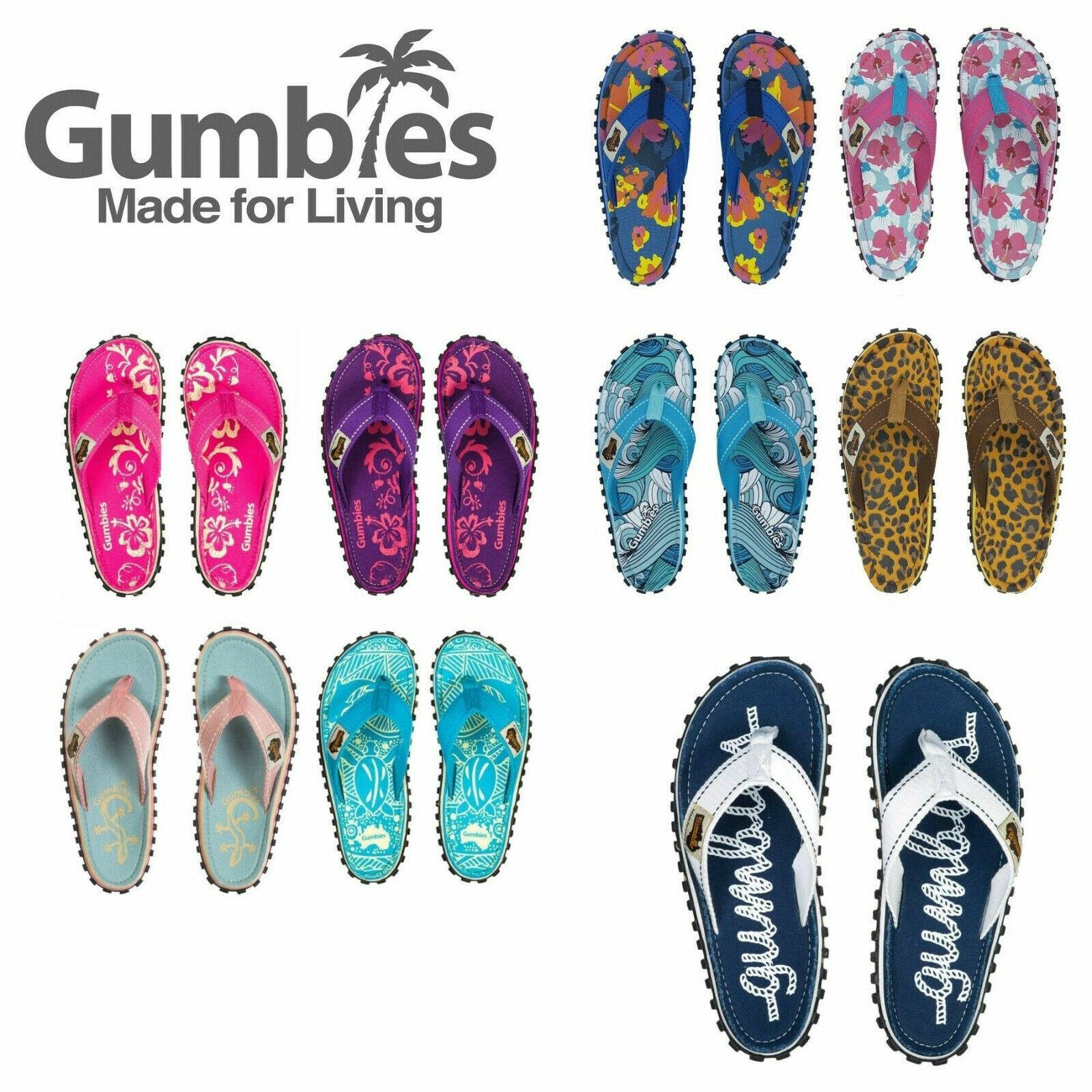 grand assortiment acheter les plus récents Détails sur Gumbies Islander Canvas Sandales De Plage D'été Unisexe Tongs  Surf