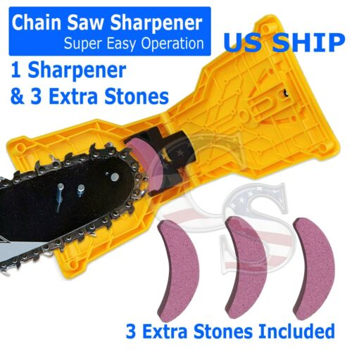 Chain Saw Teeth Sharpener Bar Professional Woodwork Sharpening Tool Stone Kit