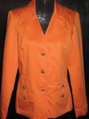 Sandro Sportwear light coat Orange blazer gold buttons suit jacket stretch S NEW