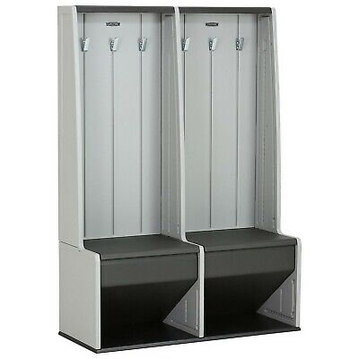 Dual Indoor Outdoor Storage Locker Two in One Bench Cubby Storage -