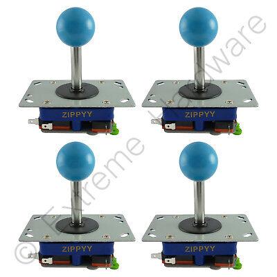 4X Zippyy Largo Eje Bola Superior Arcade Joysticks 2/4/8 Modos (Azul) Jamma