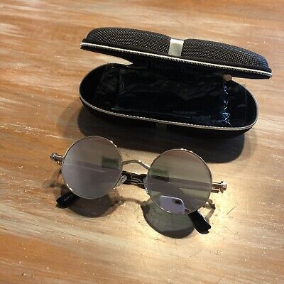 Dollger Sunglasses In Case - Round Steampunk Look - Great Condition