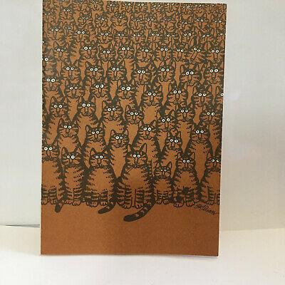 VINTAGE KLIBAN CAT CARD GREETING 1977 NOS HARD TO FIND WITH ENVELOPE