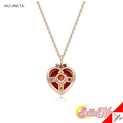OST X SAILOR MOON Heart Compact Silver Necklace Limited Edition -100% Authentic