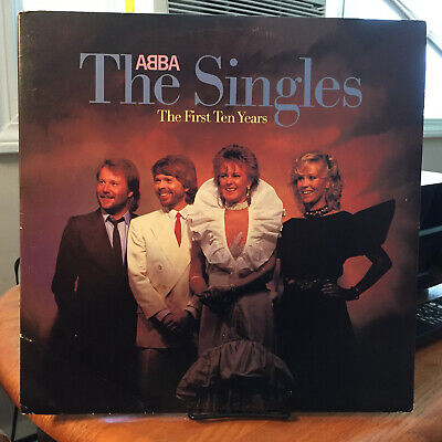 Abba - The Singles: The First Ten Years 2-LP Atlantic 7 A1-80036  Gatefold  VG+