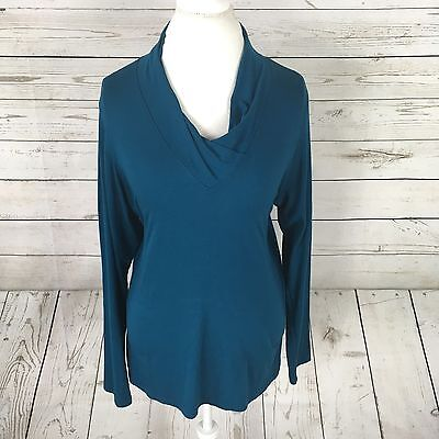 Women's Coldwater Creek Teal Blue Long Sleeve Shirt Size L