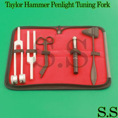 Tactical Black 5 pcs Taylor Hammer, Penlight, Scissor and Tuning Fork C128, C512