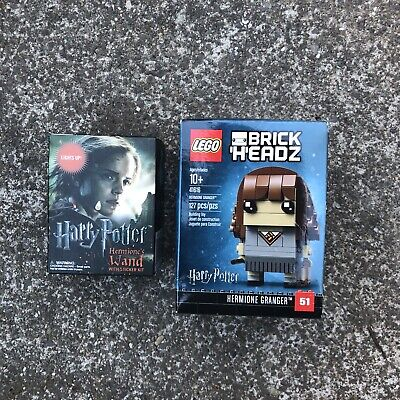 LEGO 41616 BRICK HEADZ HERMIONE GRANGER RETIRED FROM HARRY POTTER- And Wand Lot