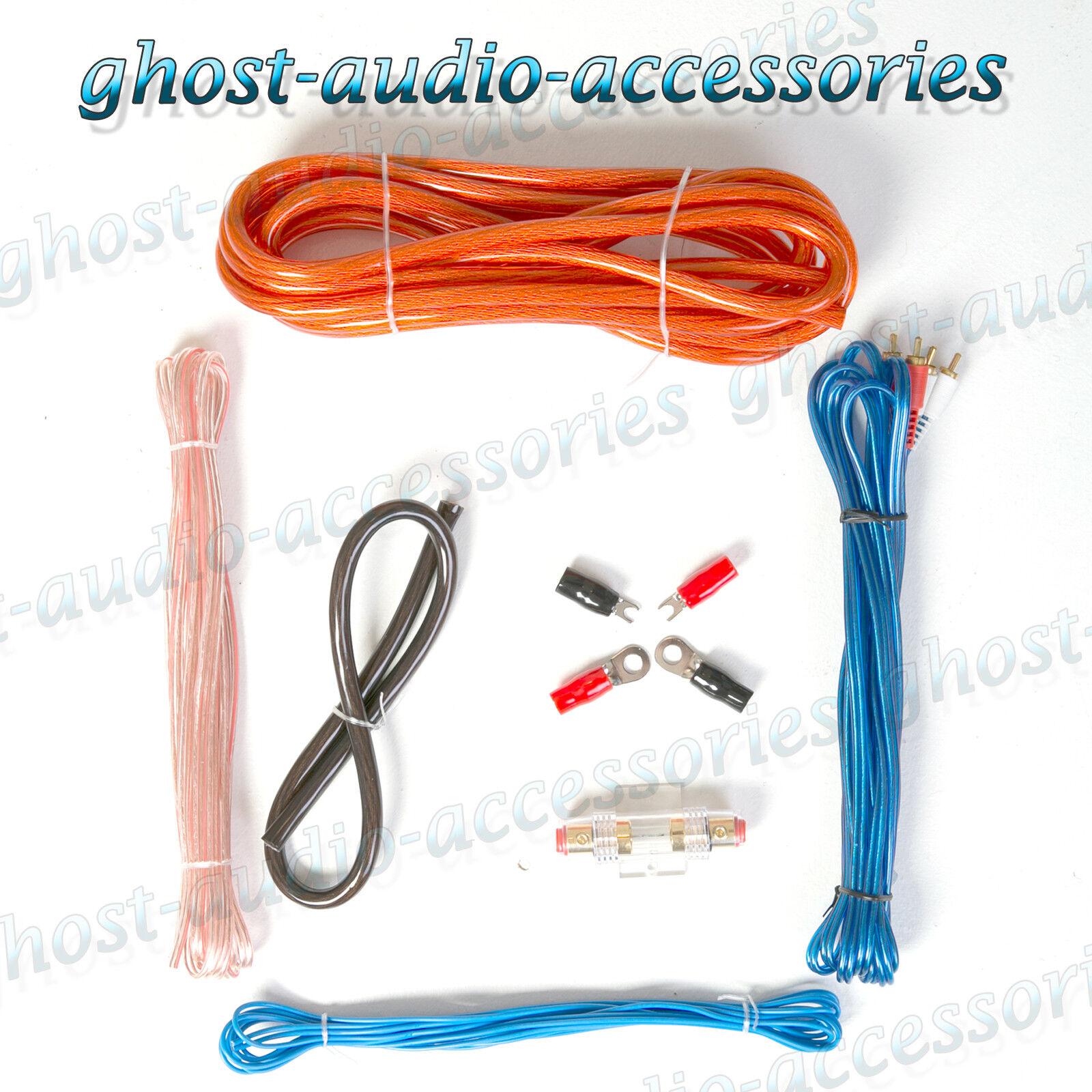 4g Guage Car Audio Amplifier Amp Wiring Installation Kit 1600 Watts