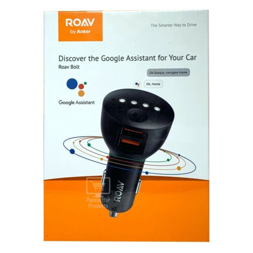 NEW and Sealed Anker Roav Bolt Dual USB Car Charger with Google Assistant