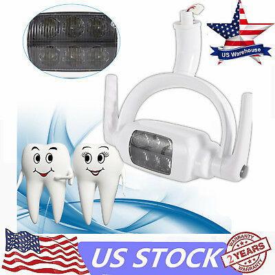 6led Dental Teeth Ceiling-mounted Type Lamp Oral Light Induction Unit Chair Tool