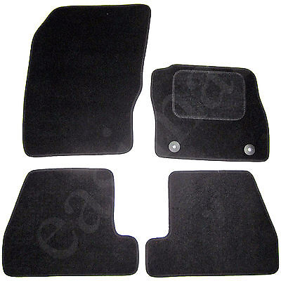 Ford Focus Mk3 2011 2015 Fully Tailored Carpet Car Mats Black 4pcs Floor Mat Set