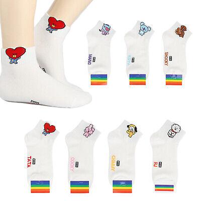 Women Fashion Casual 8 Pair of Socks Set Fairy Moomin 4 Type Stripe Point Unisex