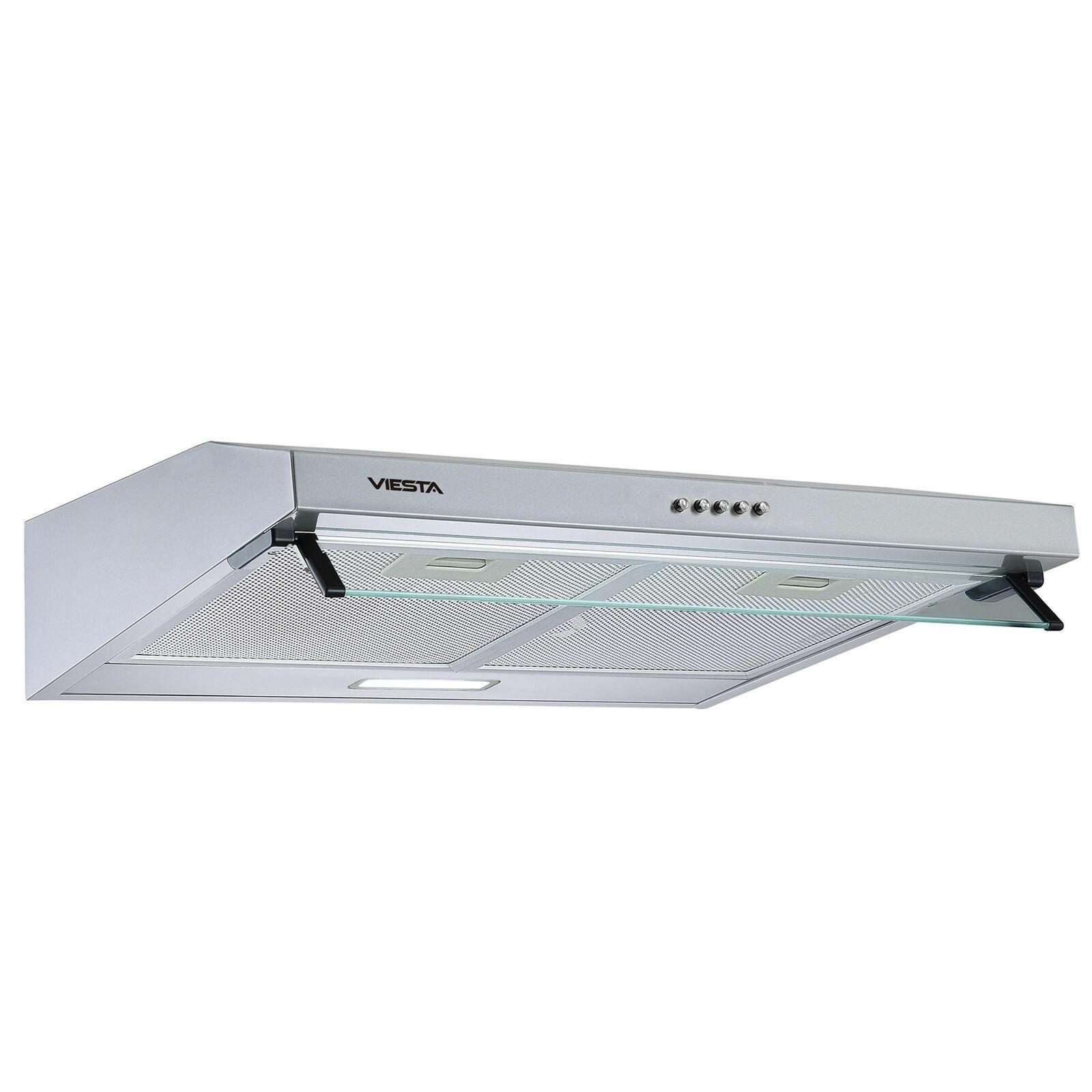 Unterbauhaube Dunstabzugshaube 60cm&LED Abluft&Umluft Edelstahl VDU6080SR Viesta