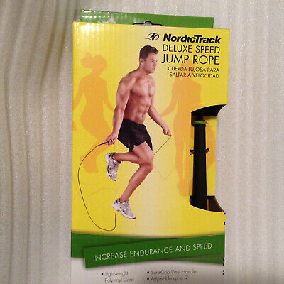 NEW Nordic Track Jump Rope Deluxe Speed Adjustable up to 9' light - Light Up Jump Rope