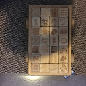 Wooden alphabet and number blocks and cart Cornwall Ontario image 1