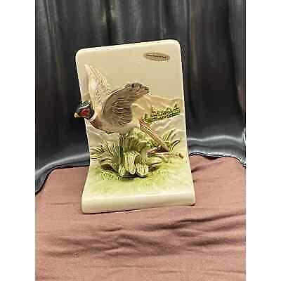 Vintage, Hand-painted, Pheasant Bookend. Porcelain, Otagiri