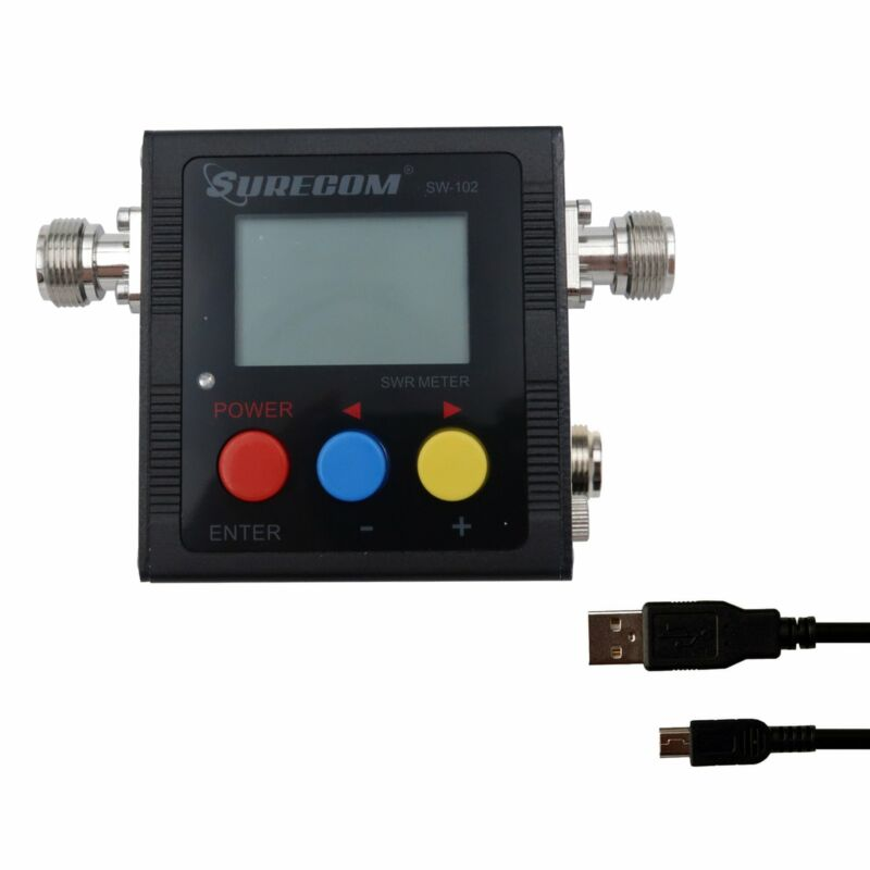 SURECOM SW-102S DIGITAL VHF/UHF 125-525MHZ CONNECTOR POWER & SWR METER (SW-102S)