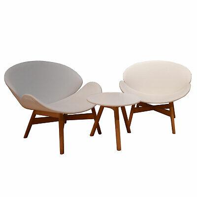 Gloster Dansk Loungesessel Beistelltisch weiß Gartenst… |