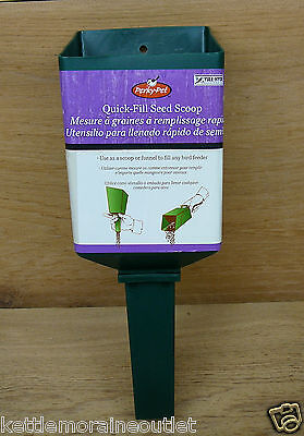 Perky Pet Plastic Quick Fill Seed Scoop Funnel Fill Bird Feeder  #342 Quick-Fill