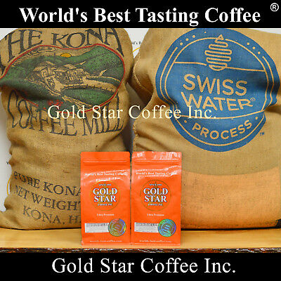 2 lb Hawaiian Kona Swiss Water Decaf coffee - Best Tasting Decaf in the (Best Tasting Decaf Coffee)