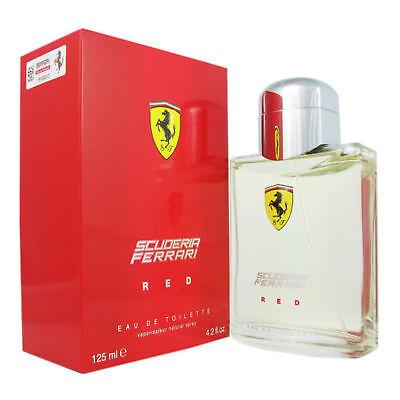 New Boxed Scuderia Ferrari Red 125ml EDT Aftershave Men Spray