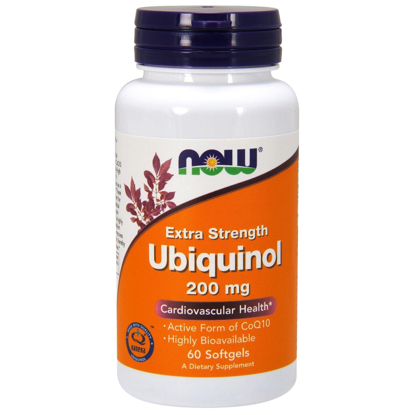 NOW Foods Ubiquinol, Extra Strength, 200 mg, 60 Softgels