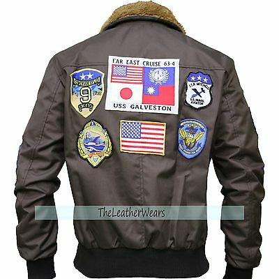 Cordura Jacket   Tom Cruise Top Gun Pete Mavericks Bomber Brown Jacket