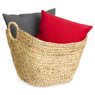 BCP Multi-Purpose Seagrass Storage Basket w/ - Wicker Storage Baskets